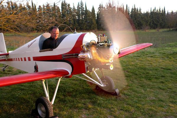 Les premiers tours moteurs du Druine 31